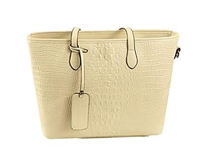 Fresh-Life Women's PU Leather Leisure Vingtage Shell Handbags Shoulder Tote Bag