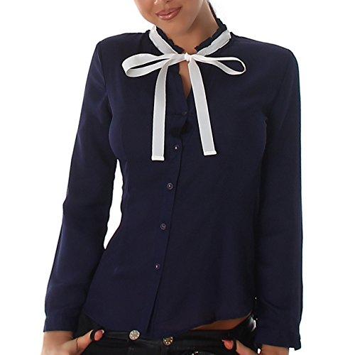 IL BAZAR - Camisas - Manga larga - para mujer blu/fiocco bianco