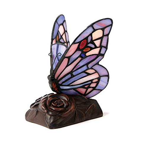 Butterfly Glass Memorial Keepsake for Loved Ones - Extra Small Purple Cremation Keepsake Urn for Ashes - Engraving Sold Separately