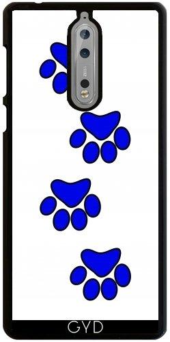 Funda para Nokia 8 - Pata De Perro Azul. by loki1982