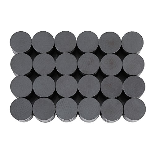HQMaster 120Pcs Ceramic Magnets Industrial Magnets Round Disc Flat Ferrite Magnets for Crafts, School Science Projects, Hobbies, Refrigerator, Whiteboard, Fridge, Hanging Artwork