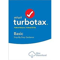 TurboTax Basic Tax Software 2017 Fed + Efile MAC Download