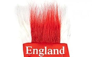St George England Headband With Hair Football Sports Fancy Dress Accessory