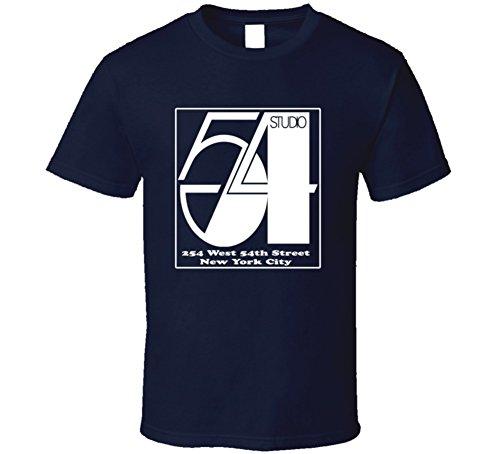 Kustom Tees 4 U Studio 54 Logo t-Shirt Retro Famous Disco NYC XL Navy
