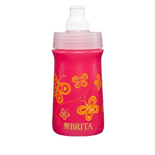 Brita Soft Squeeze Water Filter Bottle For Kids, Pink Butter