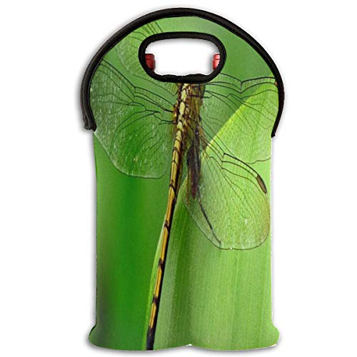 Wine Bag Dragonfly Wallpaper 2 Bottle Red Wine Tote Bag Insulated Padded Champagne Holder Bag