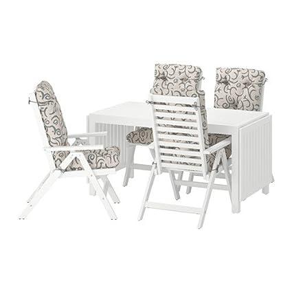 Terrific Amazon Com Ikea Table 4 Reclining Chairs Outdoor White Machost Co Dining Chair Design Ideas Machostcouk