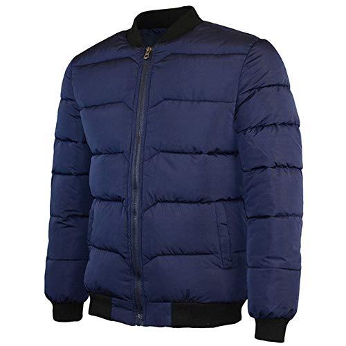 Colore Abbigliamento Baseball Cerniera Tops Moika Uomini Inverno Cappotto Uomo Marina Puro Outwear Stand Cotone Collare 1In1BzdH
