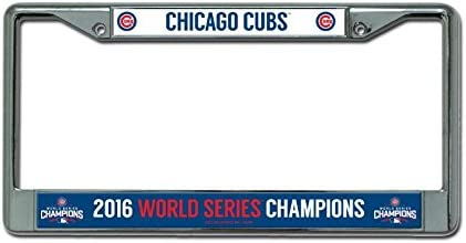 Chicago Cubs Premium Heavy Duty Solid Metal Color Chrome Hitch Cover Bumper Trailer Baseball Inc Rico Industries