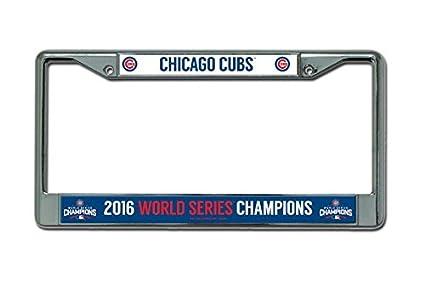 Amazon.com : MLB Chicago Cubs World Series Chrome Frame, 12\
