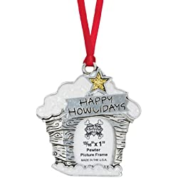 Rockin Doggie Pewter Ornament, Happy Howlidays/Picture