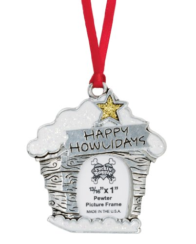 Rockin' Doggie Pewter Ornament, Happy Howlidays/Picture