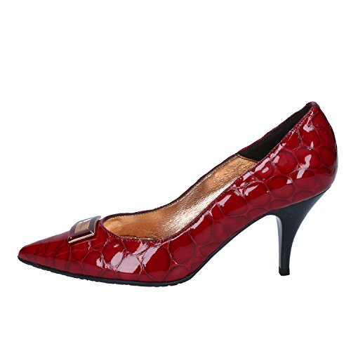 Rosso Roccobarocco Scarpe Donna Tacco Pelle Col gfCgq