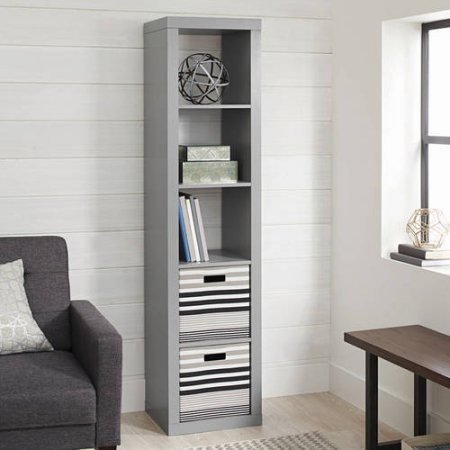 Better Homes and Gardens 5-Cube Organizer, Gray