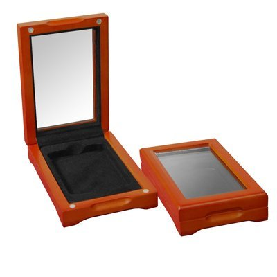 Acrylic Glass-top Wood Display Box for Graded certified -