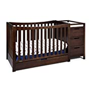Graco Remi 4-in-1 Convertible Crib and Changer, Espresso, Easily Converts to Toddler Bed Day Bed or Full Bed, Three Position Adjustable Height Mattress, Some Assembly Required