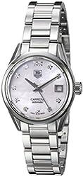 TAG Heuer Women's 'Carrera' Swiss Automatic Stainless Steel Dress Watch, Color:Silver-Toned (Model: WAR2414.BA0776)