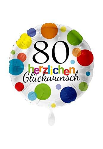 Balloon - Globo de plástico XXL para 80 cumpleaños (71 cm ...