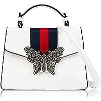 Beatfull Designer Shloulder Bag for Women, Fashion Top Handle Handbag Crossbody Bag with Diamond Butterfly