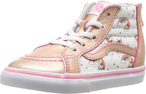 Vans Toddler Unicorn Rainbow Sk8-Hi Zip Sneakers (7 M US -