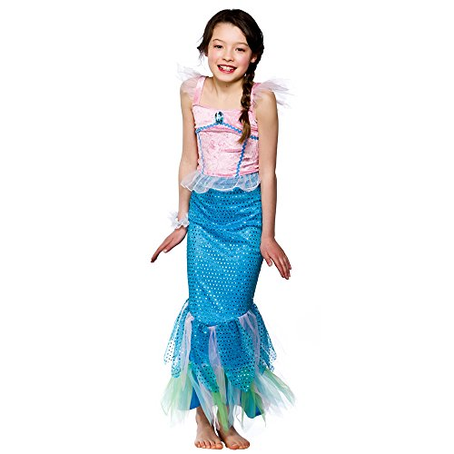 Girls Mystical Mermaid Costume Fancy Dress Up Party Halloween Outfit Kids Large ()
