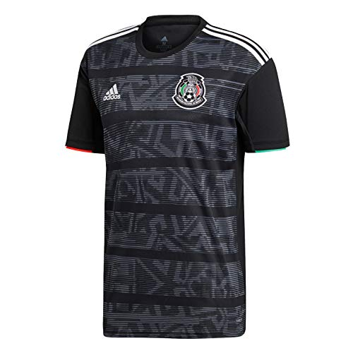 adidas Men's FMF Mexico Home Soccer Jersey (Medium) - Medium Black Jersey