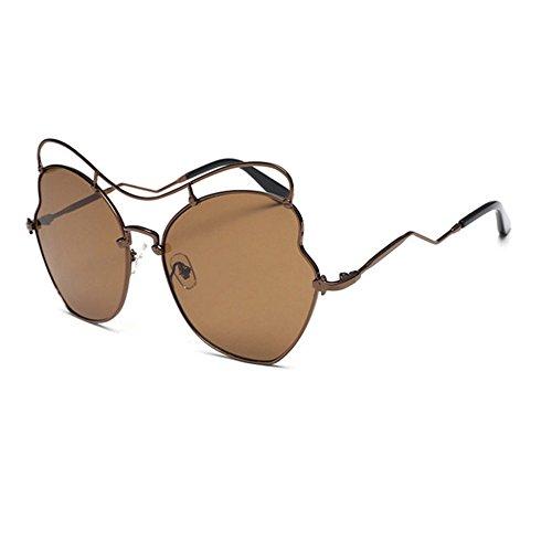 Aoligei Verres en forme de coeur coeur Chao Mans soleil miroir amour grandes en forme de coeur lunettes de lunettes de soleil v60YI