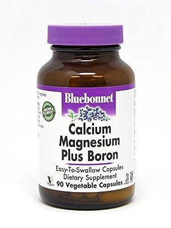 Amazon.com: Bluebonnet Calcio Magnesio Plus Boro Vegetarian ...