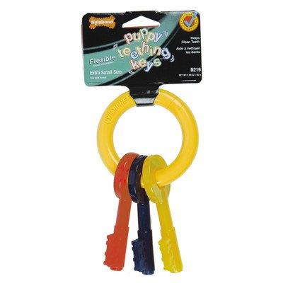 Puppy Teething Keys Dog Chew Toy [Set of 2] Size: - Nylabone Dog Life