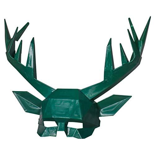 FEDULK Halloween Costume Antler Mask Cosplay Animal Deer Party Supplies Photo Prop Mask