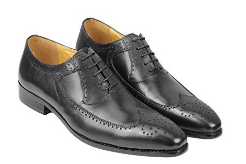 Para de de Cordones Zapatos Piel Hombre negro Xposed twqzXz
