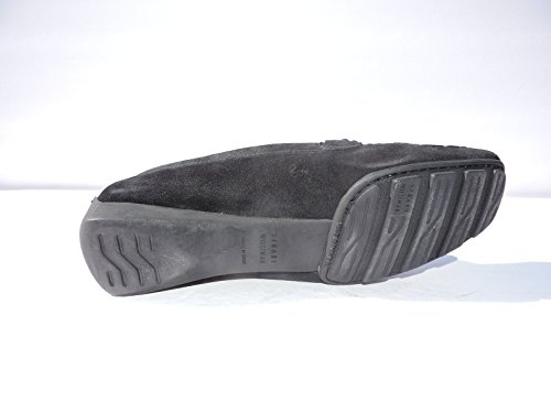 Stuart Weitzman Womens Murphy Black Suede Fats, Loafers Size 5.5 M
