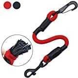AMZNOVA Durable Dog Seat Belt, Explosion-Proof Rushed Pet Seat Belt Tether with Latch Attachment, Red, Medium