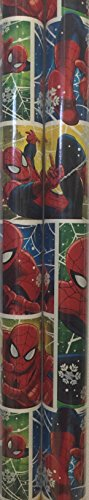 2 Christmas Child Paper Gift Roll Wrap 20 Sq Ft (Spiderman) 40 Sq Ft Total]()