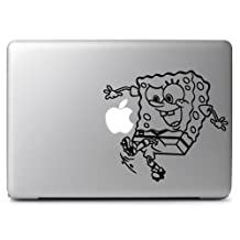 Spongebob Play Soccer Vinyl Sticker Skin Decal, Die cut vinyl decal for windows, cars, trucks, tool boxes, laptops, MacBook - virtually any hard, smooth surface