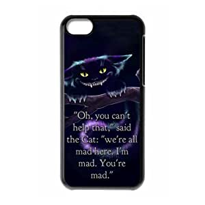 Unique Art Cheshire cat & Alice's Adventure in Wonderland Customized Special DIY Hard Best Case Cover for iPhone 5C