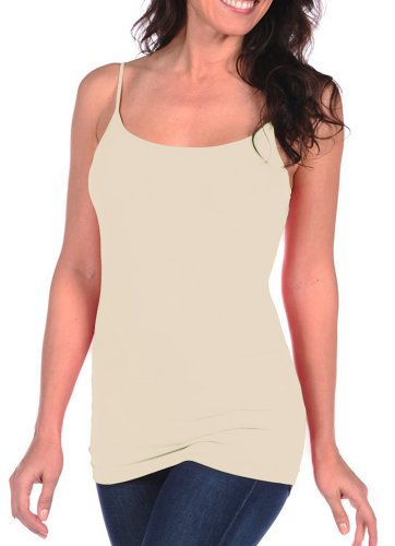 Tees By Tina Solid Cami (Alabaster)