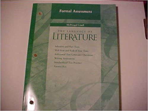 Formal Assessment grade 8 The Language of Literature