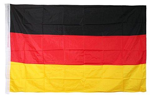 Top Qualität - Fahne / Flagge Deutschland Fußball Fanartikel, Fußballfan, Fan Meile Europameisterschaft 2016, 90cm x 150cm