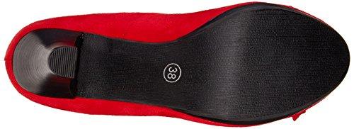 Hirschkogel by Andrea Conti 3000518,  Zapatos de Tacón Cerrados, de Material Sintético, para Mujer Rojo (Rojo 021)
