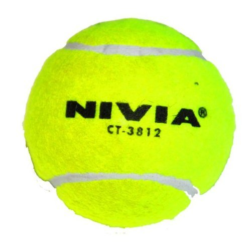 Nivia Heavy Tennis Ball Cricket Ball (Pack of 12), Yellow (Best Cricket Ball Brand In India)