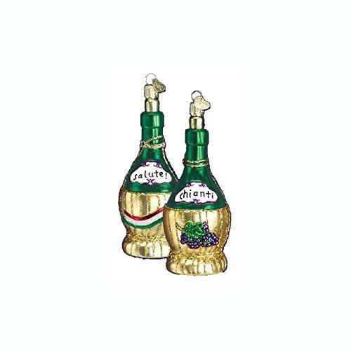 (Old World Christmas Chianti Bottle Wine Glass Ornament #32011)