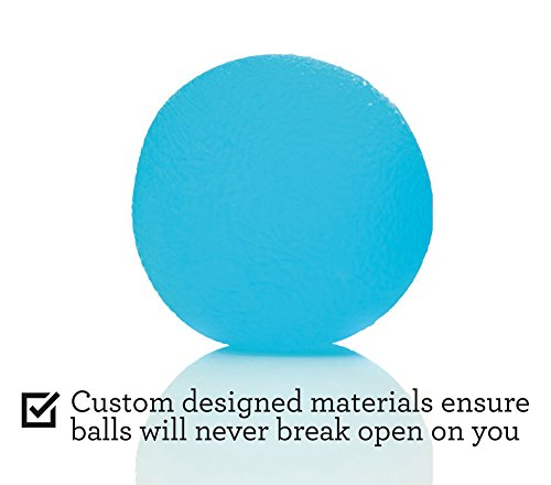 Squishy Stress Relief Balls (3 pack) Tear Resistant Stress Ball, Non toxic, BPA/Phthalate/Latex Free (Colors as Shown)