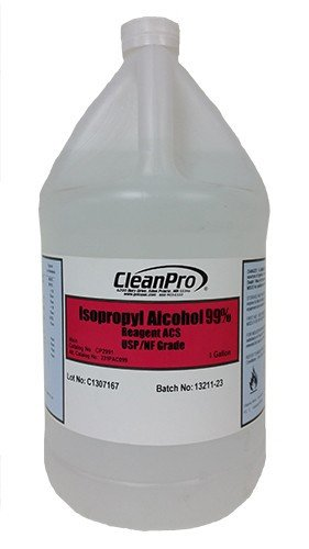 CleanPro 99% Isopropyl Alcohol (IPA), USP-Grade, Case of 4 Gallons by CLEANPRO