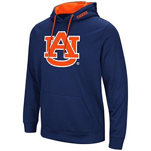 Auburn Tigers College Basketball - Colosseum Men's NCAA-Elite Zone Pullover Hoodie Sweatshirt-Auburn Tigers-Blue-Medium