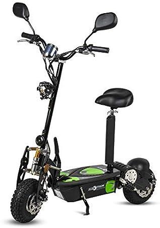 ECOXTREM Patinete, Scooter Tipo Moto Eléctrico, Plegable, con Sillin Desmontable, Luz Foco, luz LED de Freno, Supensión y Claxón. Ideal para desplazamientos urbanos. Motores 800W y 1000W.