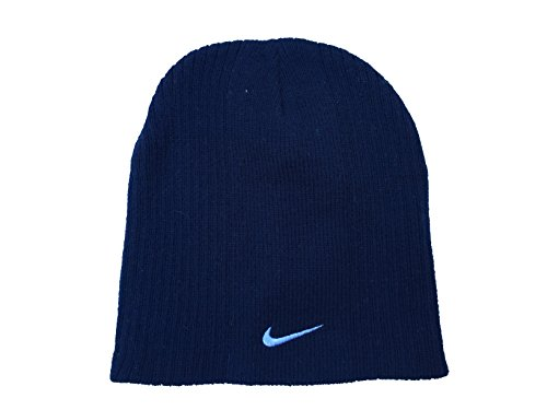 Nike Ribbed Beanie - Nike Small Check Youth Boy's 4/7 Ribbed Beanie Hat (Navy)