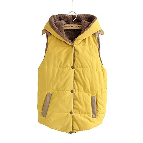 究極の面白い第三KINDOYO フード付き ベストコート レディース - エレガント 厚手 防寒 ノースリーブ ダウンコート コート