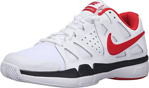 Nike Air Vapor Advantage White/Black/University Red Men's Tennis Shoes