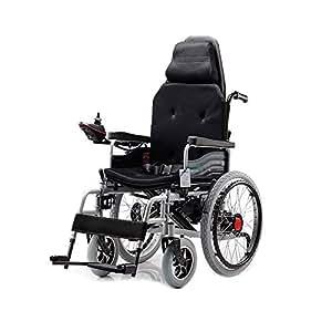 RKY Silla de ruedas Silla de ruedas eléctrica, silla de ruedas de cuidado de cuatro